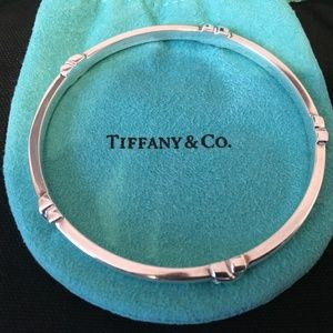 Tiffany & Co. Jewelry - Tiffany & Co 925 SS Signature X Bangle Bracelet